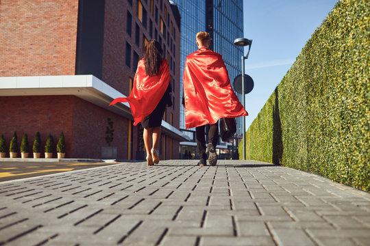 Business concept super hero success.