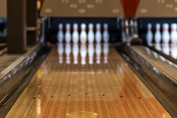 Bowling lane, unfocused