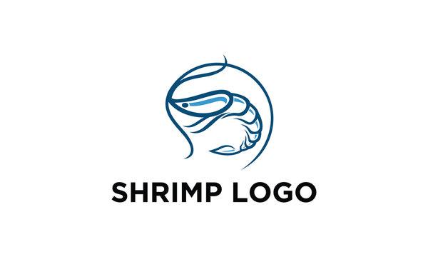shrimp logo design idea