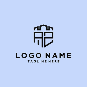 AZ Logo Set modern graphic design  Inspirational logo design for all companies. -Vectors