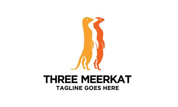 three meerkat logo design idea