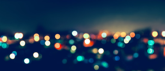 City light bokeh Wall mural