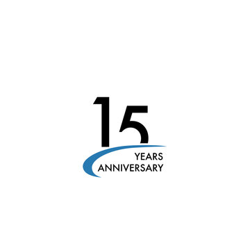 15 years anniversary logo design template, vector illustration