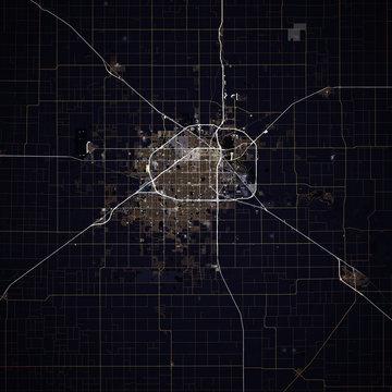Map Lubbock city. Texas