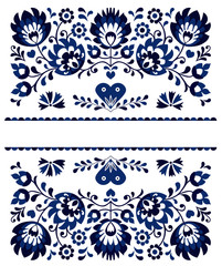 Traditional moravian folk embroidery and ornaments