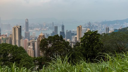 Fotomurales - Hong Kong city view from the peak