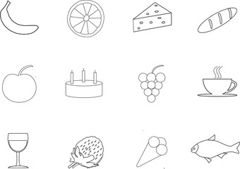 icons food vector for schop
