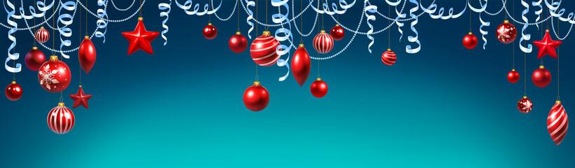 new year, christmas decoration, balls, serpentine, beads