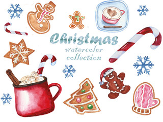 Festive collection of Christmas symbols.