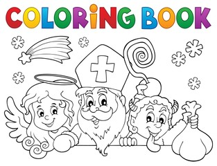 Coloring book Saint Nicholas Day topic 1