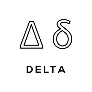 Greek Alphabet : Delta signage icon