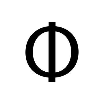 greek alphabet : phi signage icon