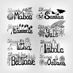 set of vector wheel of time lettering