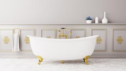 Vintage Badezimmer mit Antiker Badewanne
