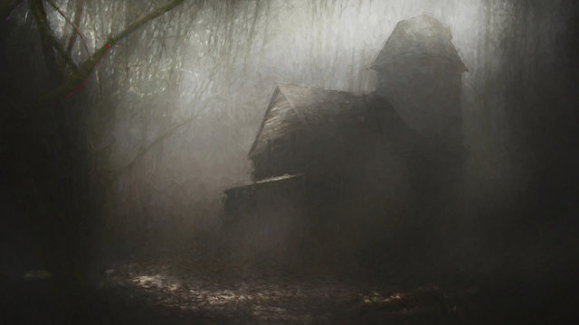Haunted House In Forest