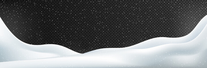 snow vector. Snow vector illustration. Winter illustration Isolated on transparent background