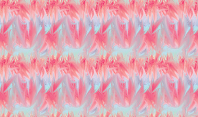 Seamless background pattern with pink and blue tie dye strokes.Ink textured japanese background. Modern batik wallpaper tile. Psychedelic endless backdrop.