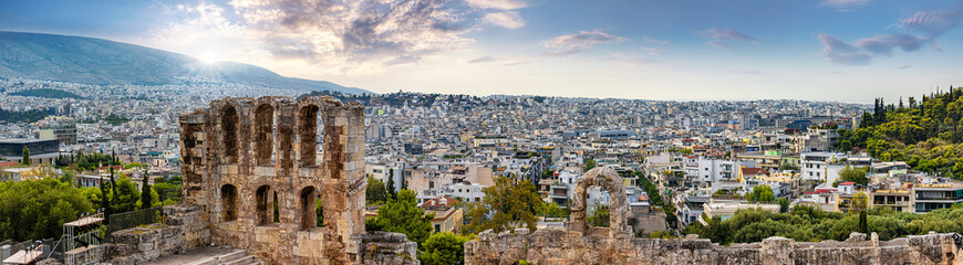 athens vue from the acropolis Fototapete