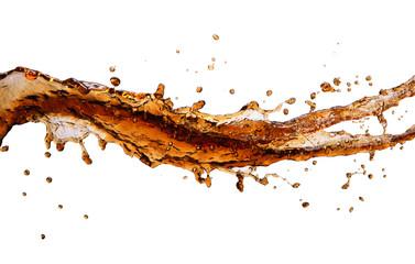 Fototapeta Cola splash with drops