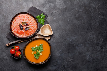Tomato and pumpkin soup