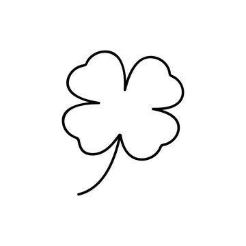 Four-leaf clover icon. thin line design. Vector illustration, EPS