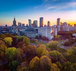 Warszawa - Ogród Saski jesienią