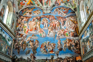 Vatican - May 2017: Sistine Chapel in Vatican museum
