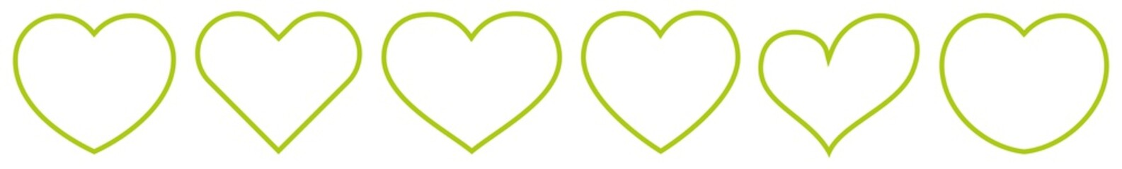 Heart Shape Green Eco | Nature | Love | Logo | Variations