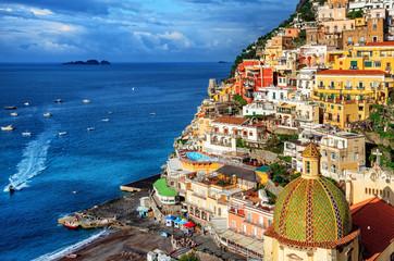 Fototapeten Neapel Positano old town, Amalfi coast, Italy