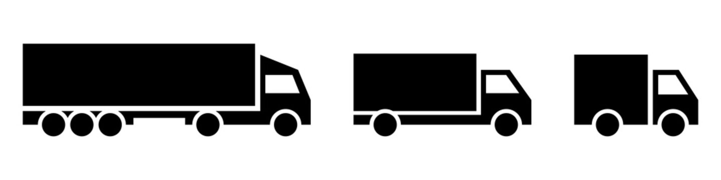 Vector transport logo collection on white background.