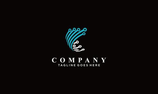 connection  logo Vectors Royalty design inspiration
