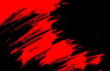 black and red hand painted brush grunge background texture Fototapete