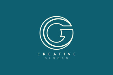 Monogram logo design letter G. Simple and modern initial vector design for business brand and product.