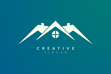 Minimalist and flat home logo design. Simple and modern vector design for your business brand or product.