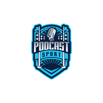 Podcast sport logo design inspiration. Podcast logo design for sport