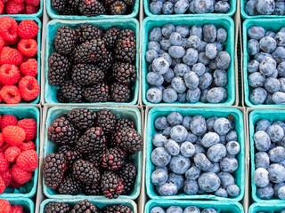 Farmers Market Organic Berries and Fruit