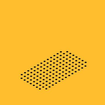Isometric Radio with antenna icon isolated on yellow background. Vector Illustration