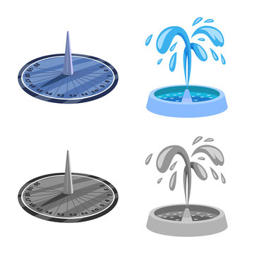 Vector illustration of urban and street logo. Set of urban and relaxation stock vector illustration.