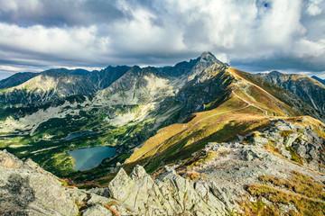 Obraz Mountain peaks in the autumn. Tatra Mountains in Poland. - fototapety do salonu