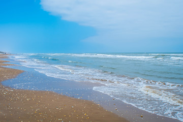 Canvas Prints Coast A beautiful soft and fine sandy beach along the gulf coast of South Padre Island, Texas