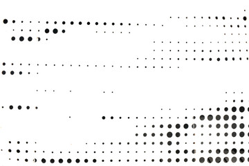 Abstract background with circles of different diameters. White metal texture with black holes randomly located. Porous black and white dots pattern