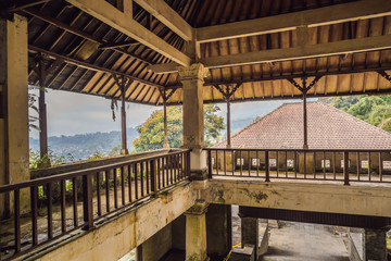 Abandoned and mysterious hotel in Bedugul. Indonesia, Bali Island