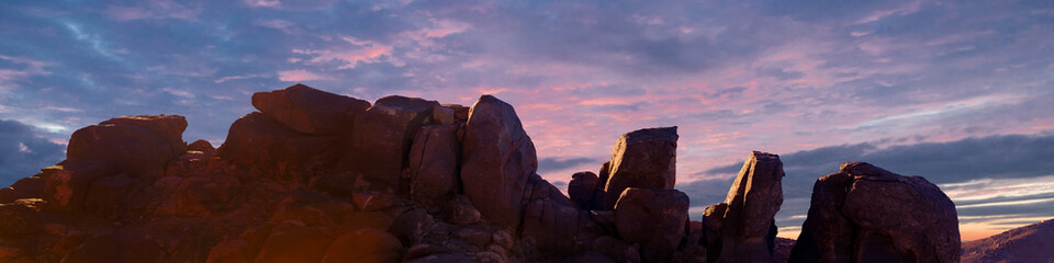 Foto auf Leinwand Braun Amazing Sunrise at Sinai Mountain, Beautiful dawn in Egypt, Beautiful view from the mountain
