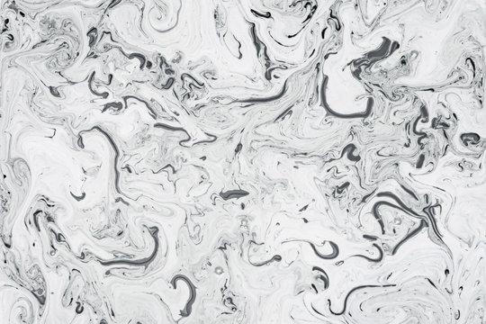 White Fluid Liquid Acrylic Paint Marbled Texture