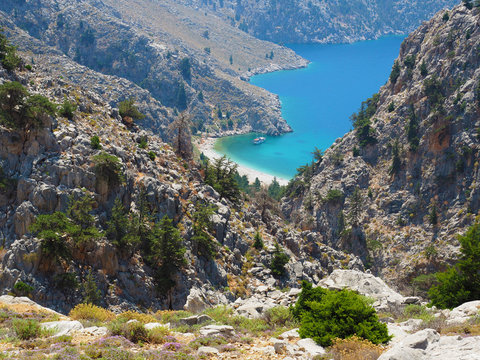 Symi - Wanderung zum Agios Vasilios Beach