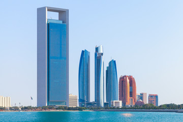 Photo sur Aluminium Abou Dabi Abu Dhabi downtown cityscape