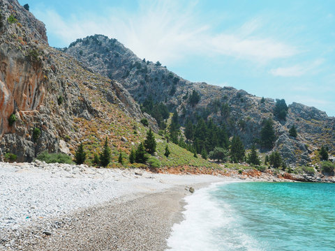 Symi - der einsame Strand Agios Vasilios Beach
