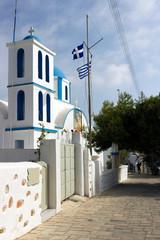 Koufonissia island - church of Agios Georgios in Chora, is the patron saint of the island, South Aegean