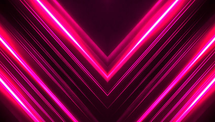 Fotomurales - Dark abstract futuristic background. Neon lines, glow. Neon lines, shapes. Pink and blue glow