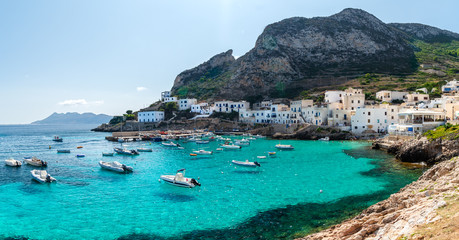 The sea of Levanzo, A small island of Sicily, Italy. Wall mural
